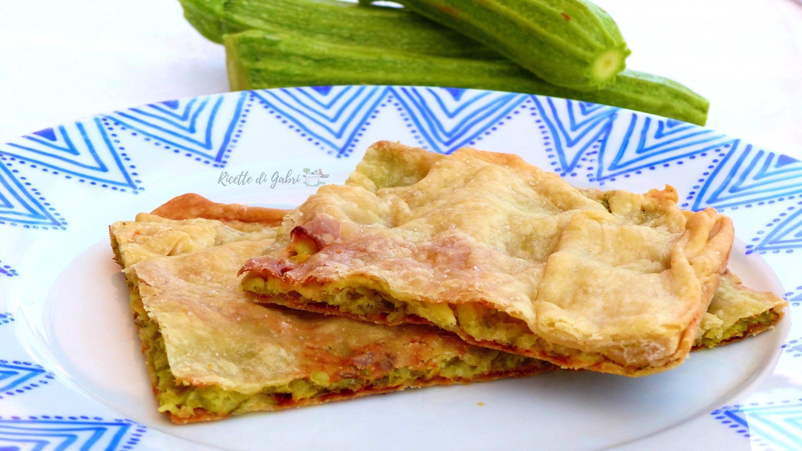 focaccia veloce di zucchine schiacciata di verdure di gabri con pasta matta ricetta facile