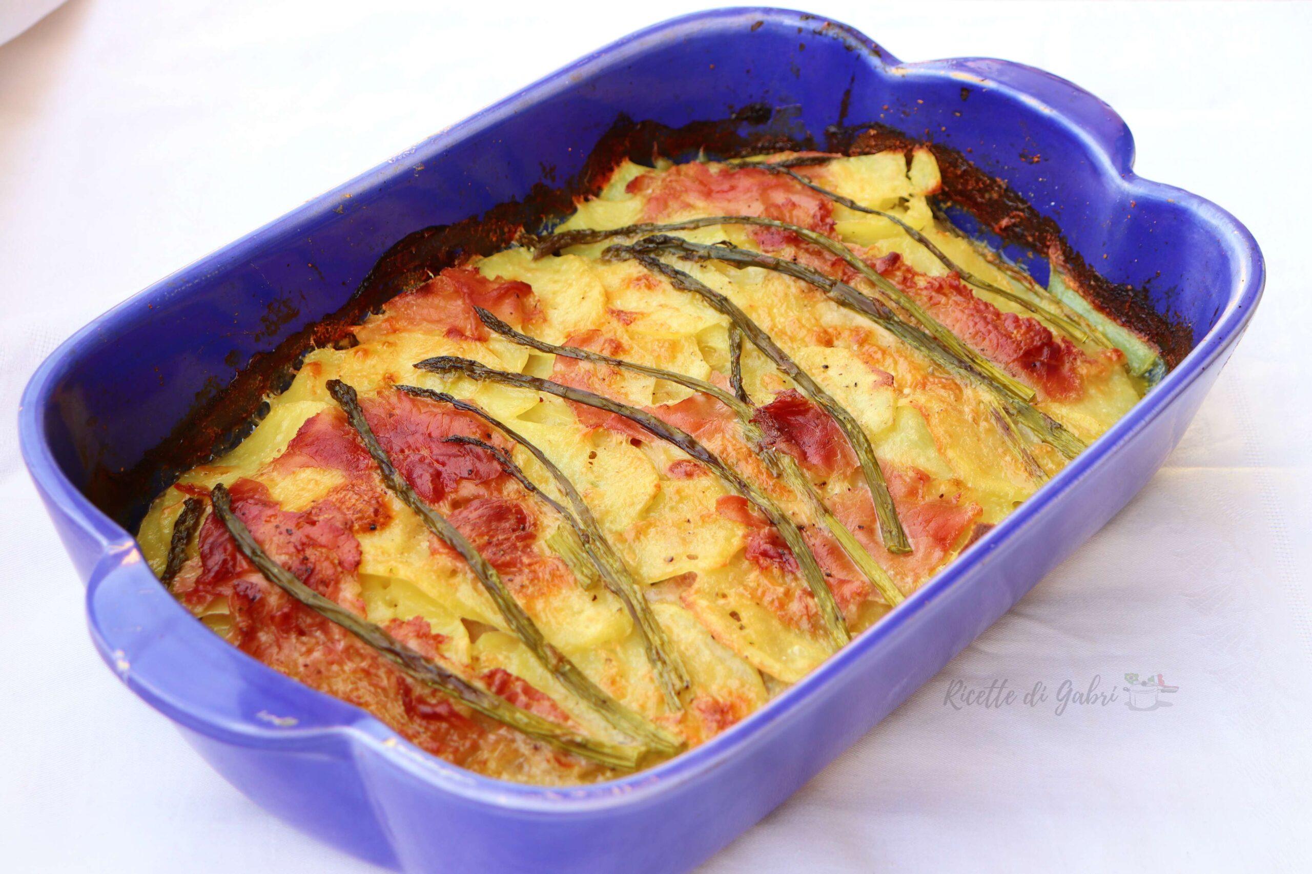 parmigiana di patate e asparagi facile e veloce tutto a crudo ricetta di gabri