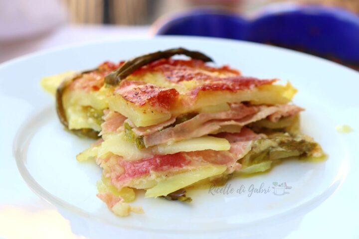parmigiana di patate e asparagi al forno ricetta facile senza besciamella di gabri