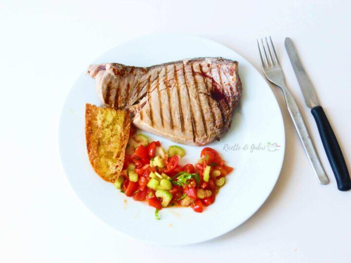 ricetta tonno fresco alla piastra bistecca in padella facile veloce di gabri