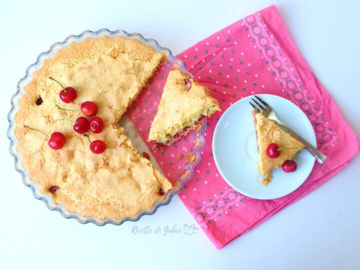 torta di ciliegie senza burro soffice facile ricetta di gabri