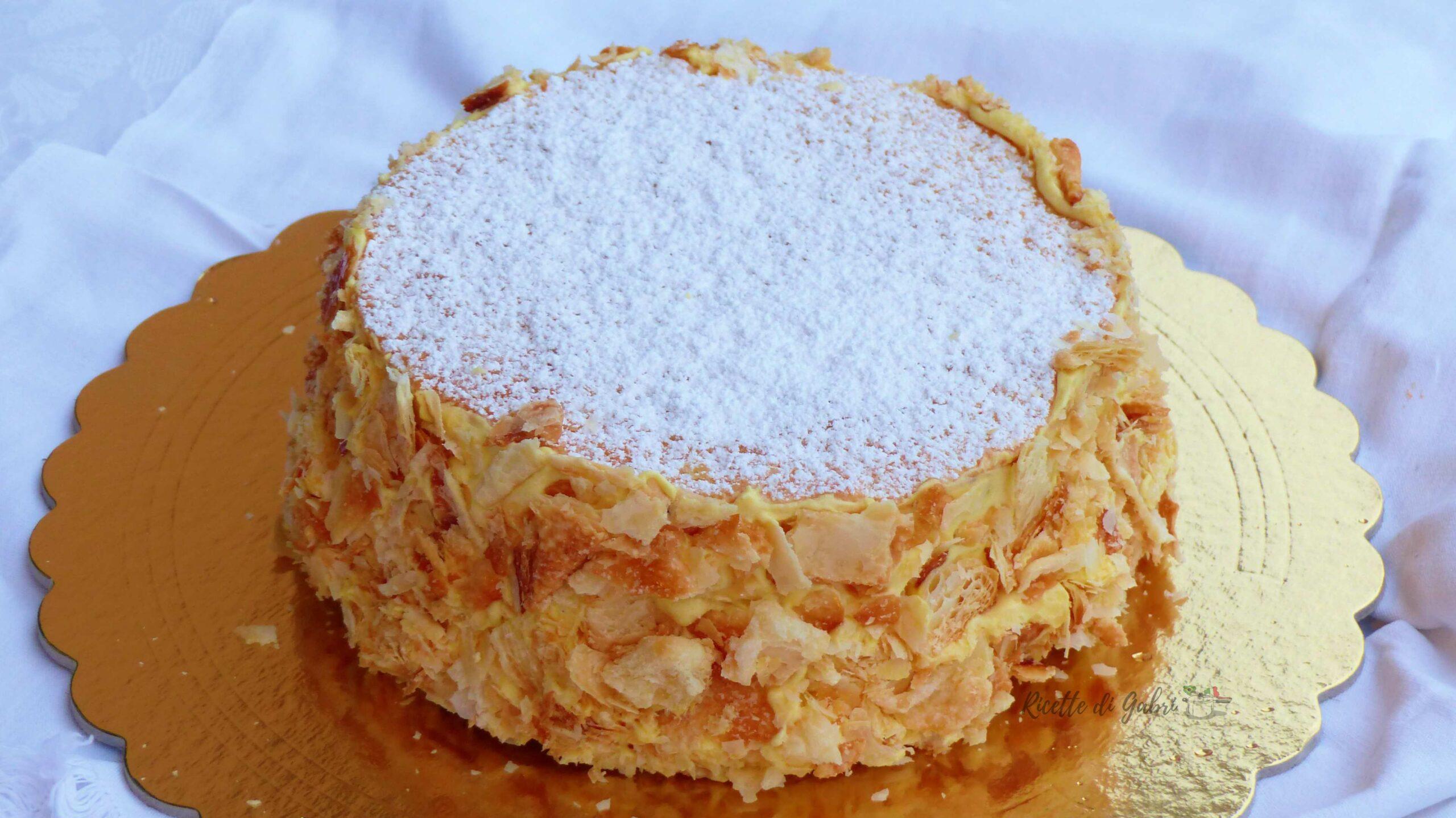torta millefoglie alla crema ricetta classica di gabri facile veloce