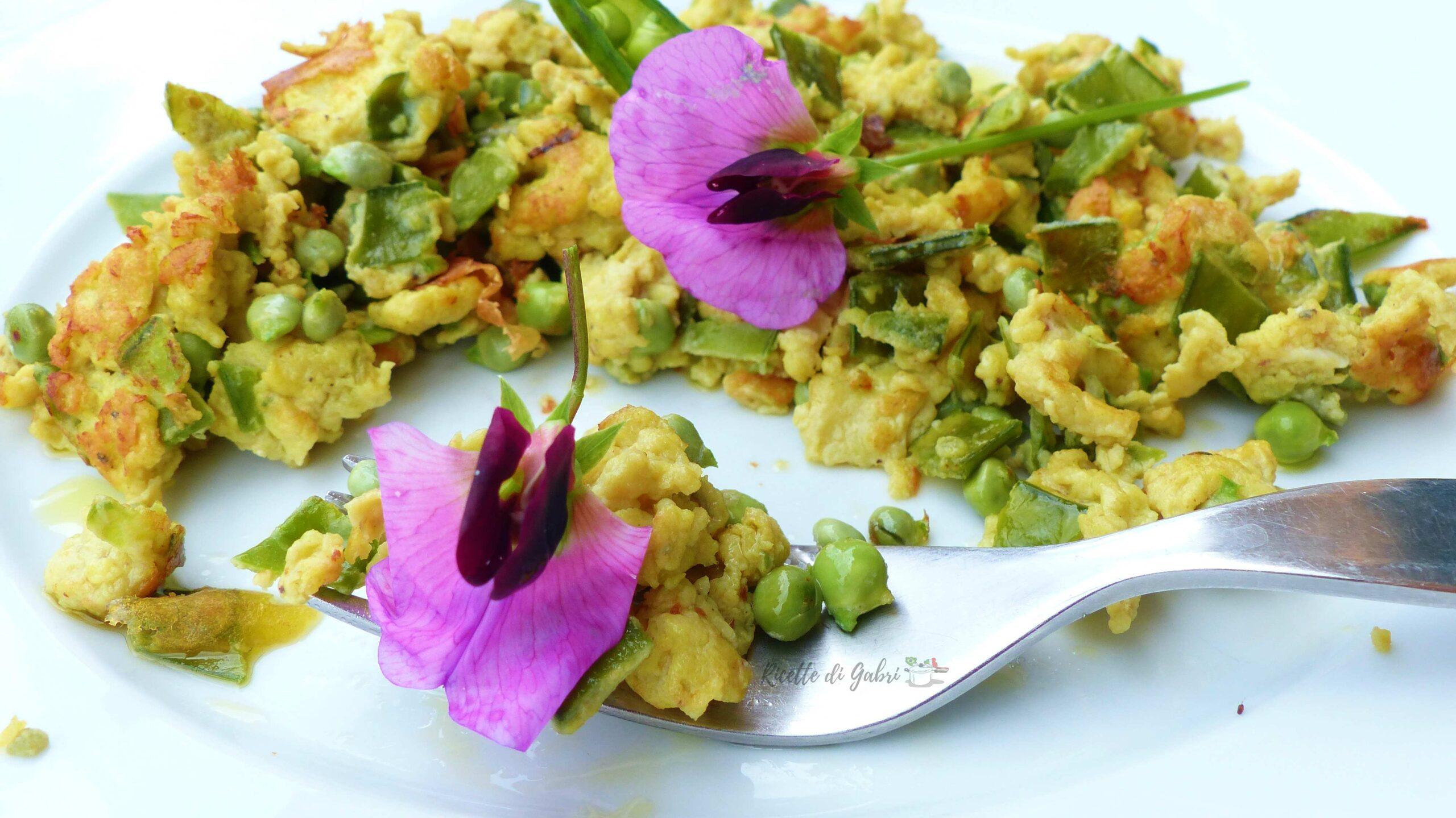 uova strapazzate con roveja fresca pisellini ricetta facile veloce di gabri