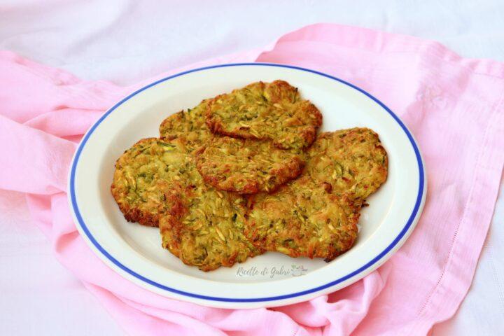 frittelle di zucchine al forno senza uova ricetta facile di gabri