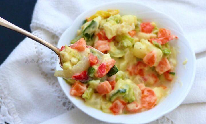 insalata russa con minestrone di verdure surgelato ricetta facile veloce furba di gabri