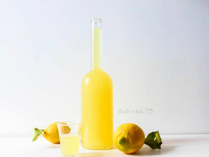 ricetta limoncello originale fatto in casa liquore limone costiera ricetta facile di gabri