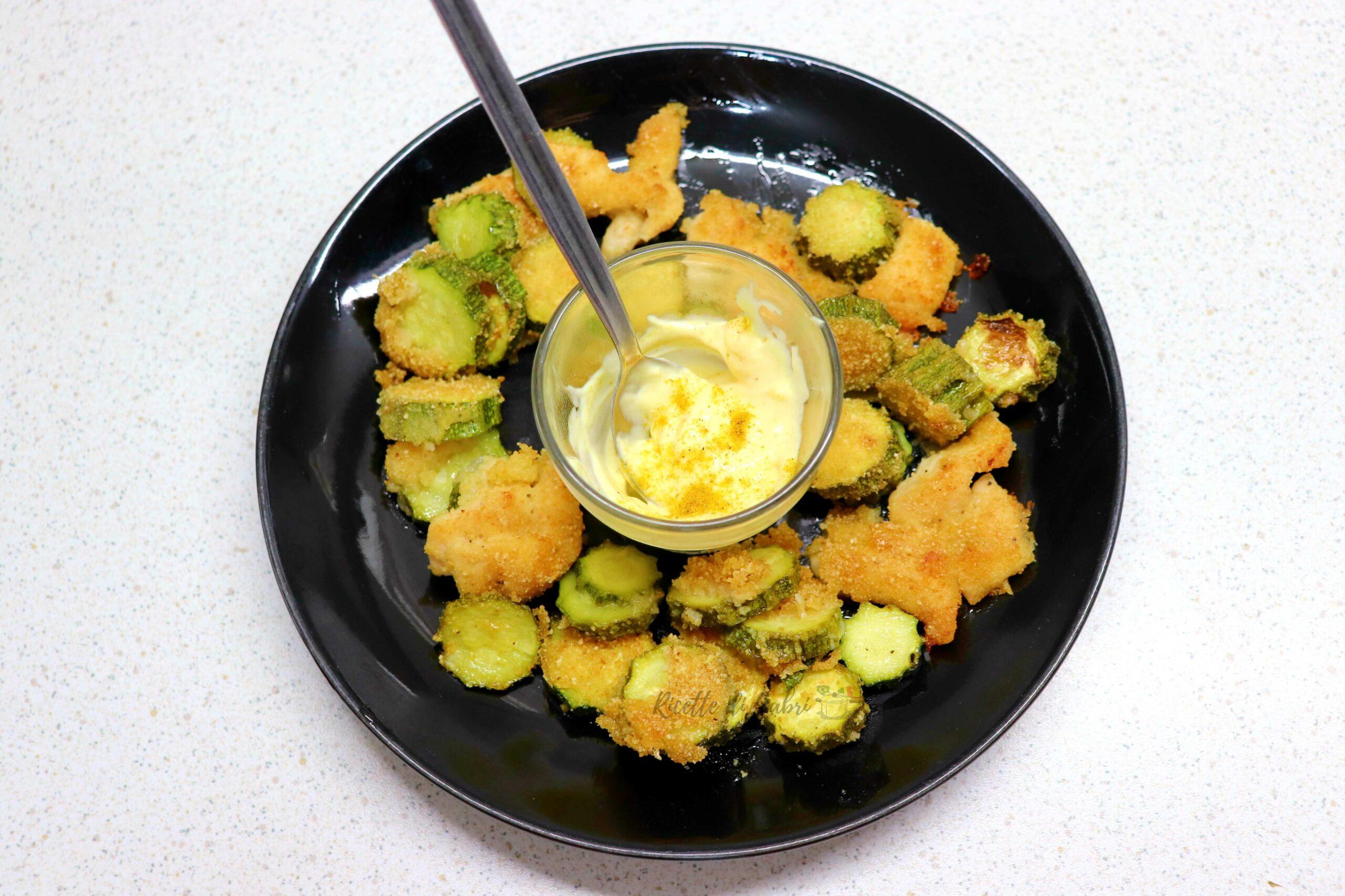 bocconcini di petto di pollo e zucchine al forno secondo facile veloce ricetta di gabri
