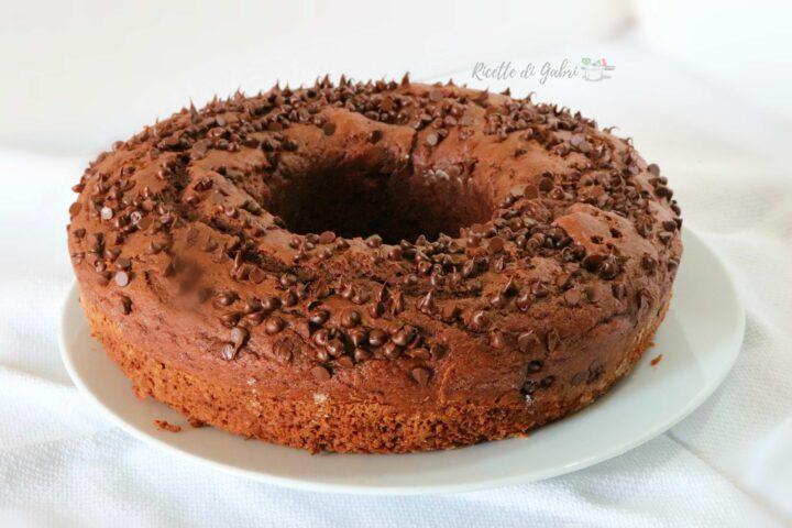 ciambellone al cioccolato senza bilancia ricetta facile e veloce di gabri