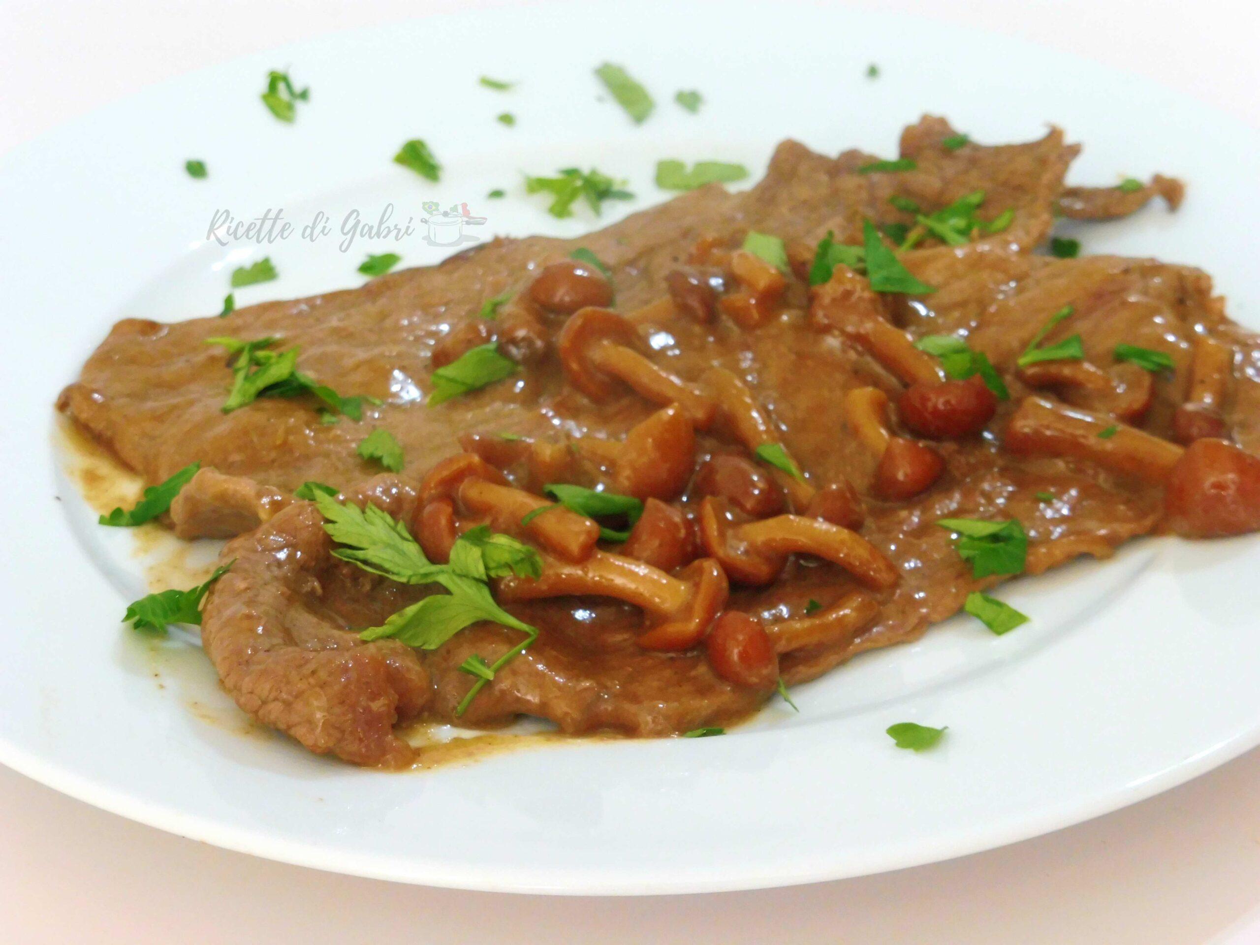 scaloppine o fettine di vitello ai funghi ricetta facile e veloce di gabri