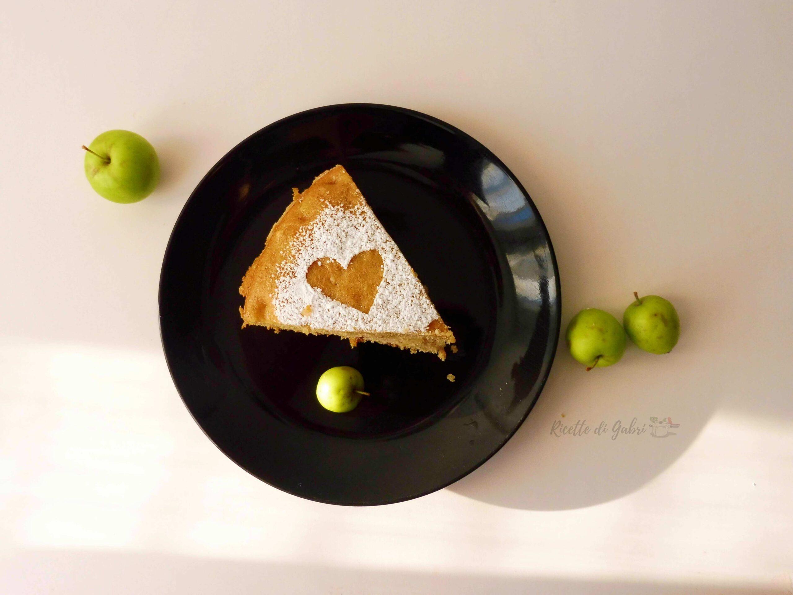 torta di mele semplice senza burro veloce facile mele selvatiche gabri