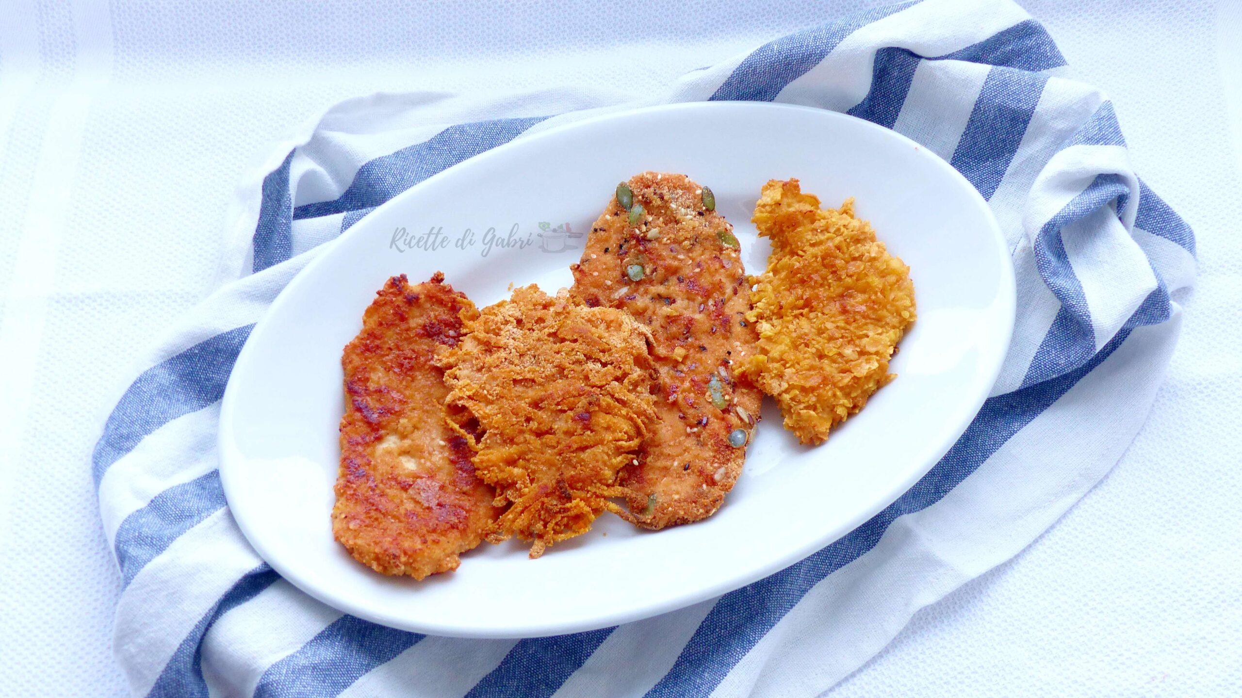 cotolette di pollo al forno senza uova ricetta facile panature sfiziose