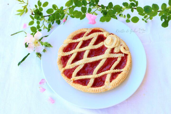 crostata con marmellata di rosa canina frolla senza burro ne uova vegan recipes