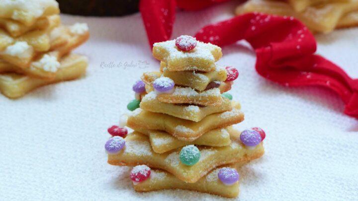 biscotti di natale albero di stelle di pasta frolla ricetta facile di gabri