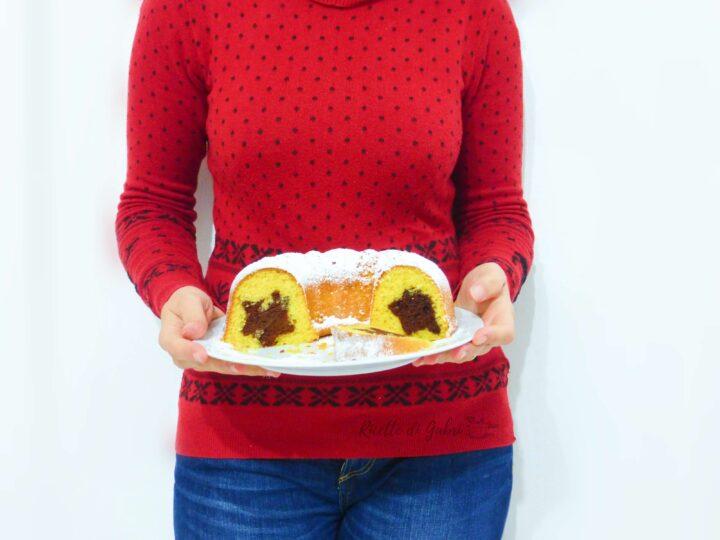 ciambella stella di natale dolce natalizio senza burro soffice facile e veloce di gabri