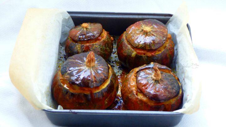 zucca al forno ripiena di patate e porcini ricetta facile gabri