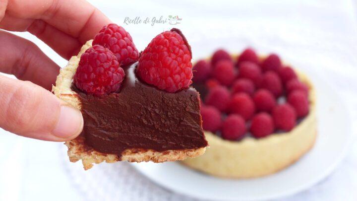 crostata con crema al cioccolato e lamponi freschi ricetta di ernst knam gabri