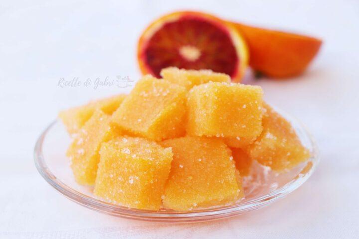 caramelle gelee all arancia gommose succo di frutta ricetta facile senza gelatina di gabri
