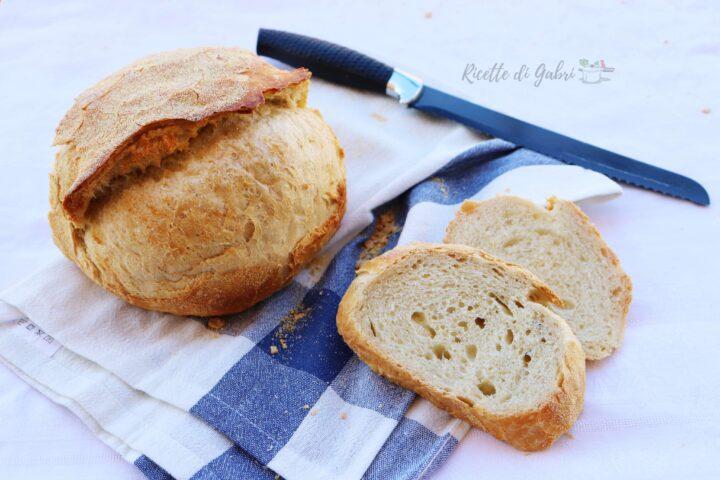 pane semplice ricetta fatto in casa di gabri pane comodo cotto in pentola con lievito di birra