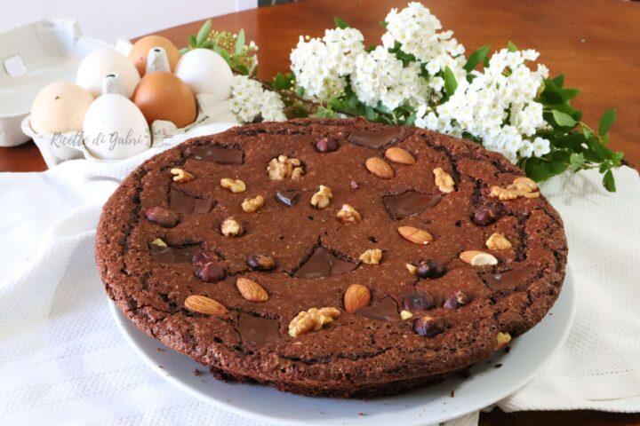 torta al cioccolato senza burro senza olio e senza farina con cioccolato uova di pasqua ricetta facile di gabri