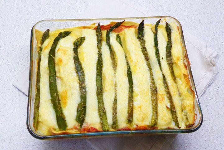 lasagne agli asparagi e cotto ricetta facile pasta forno con asparagi di gabri