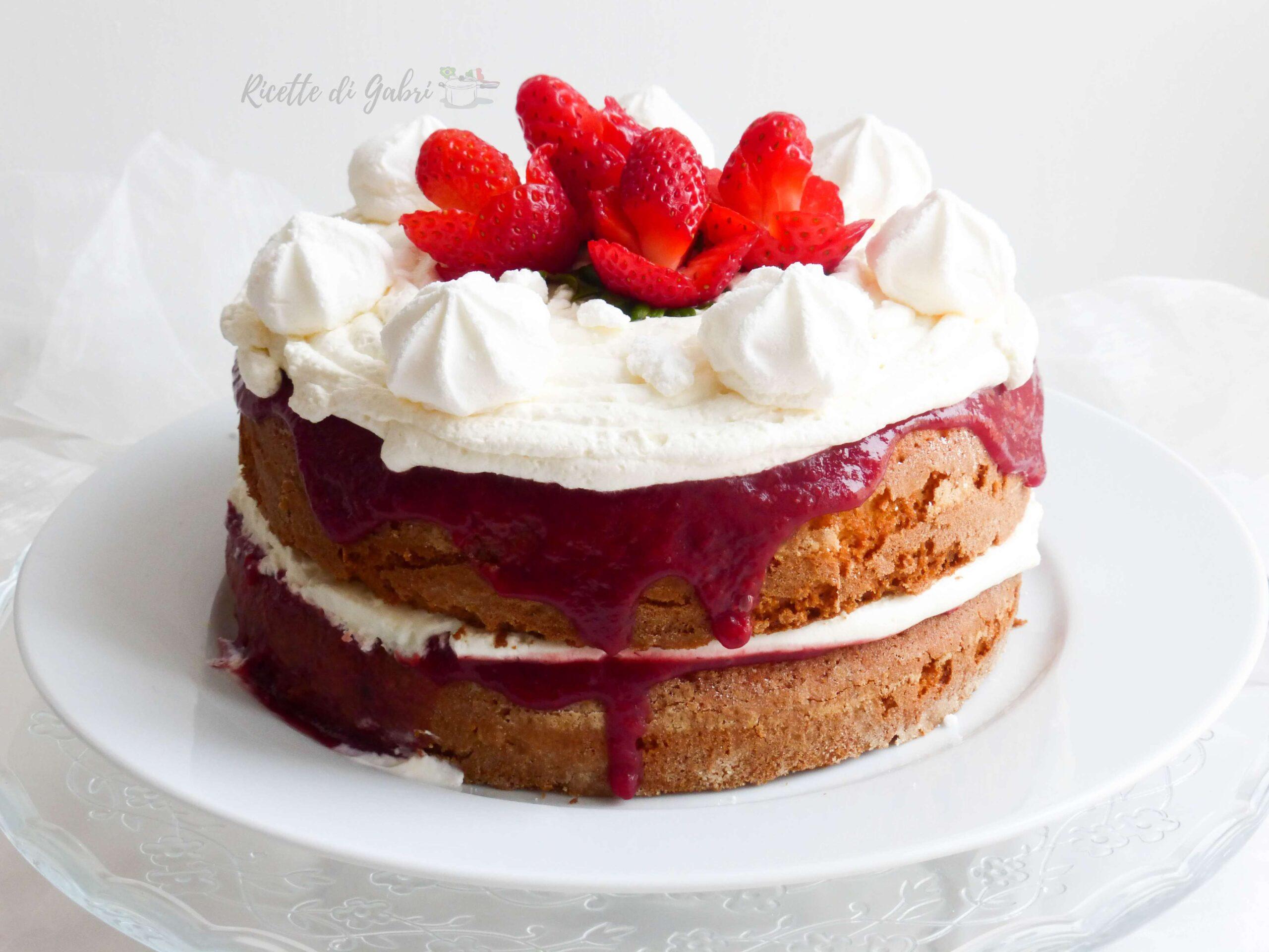 torta fragole e mascarpone naked cake ricetta facile torta di compleanno gabri