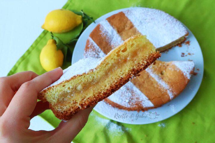 torta versata al limone ripiena di marmellata ricetta facile di gabri