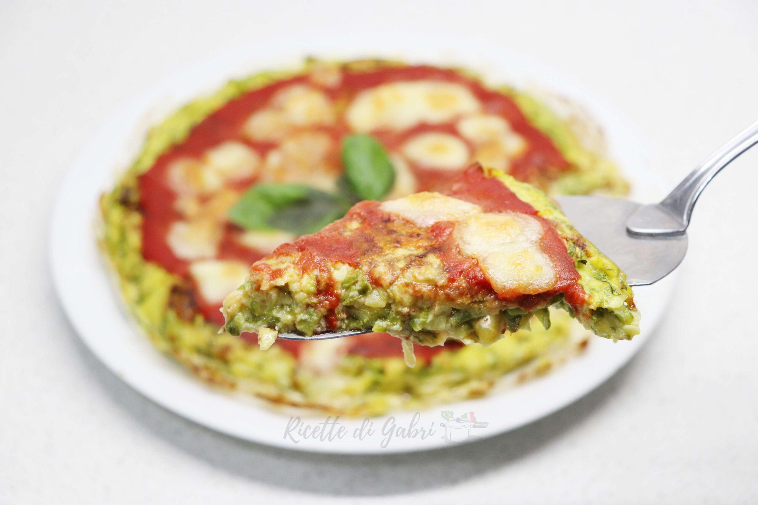 pizza con impasto di zucchine ricetta facile e veloce di gabri