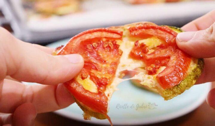pizzette di zucchine tonde al forno ricetta facile veloce di gabri