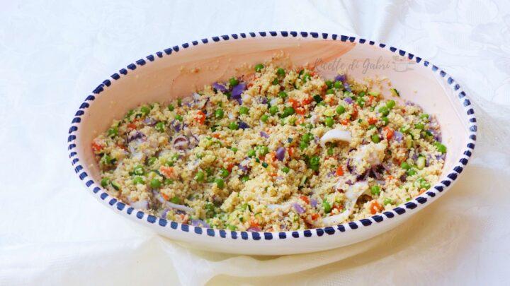 ricetta couscous con seppie e verdure primo piatto estivo facile e veloce gabri