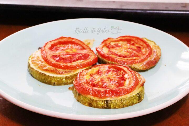ricette zucchine tonde pizzette al forno facili e veloci di gabri