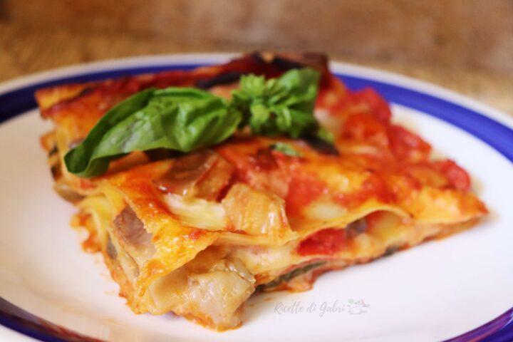 lasagna con melanzane senza besciamella ricetta facile e veloce di gabri