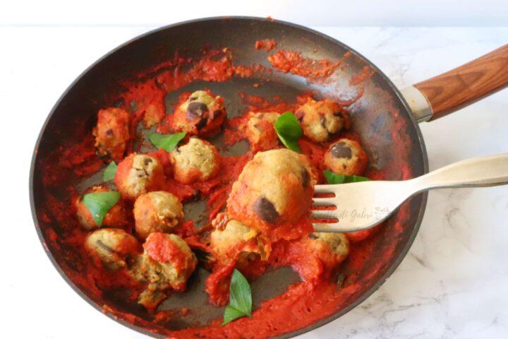 polpette di melanzane e ceci cotte in padella ricetta facile vegan senza uova polpette verdure