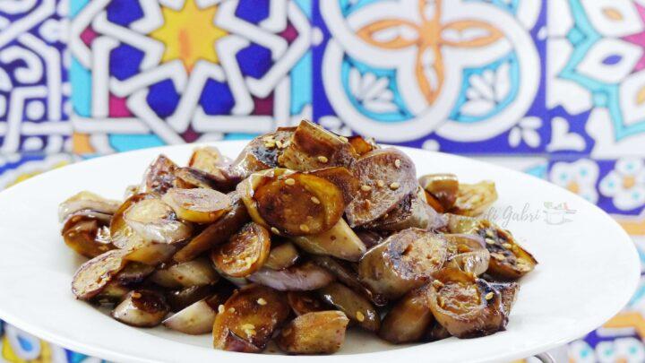 ricetta melanzane perline cinesi in padella con salsa di soya ricetta gabri