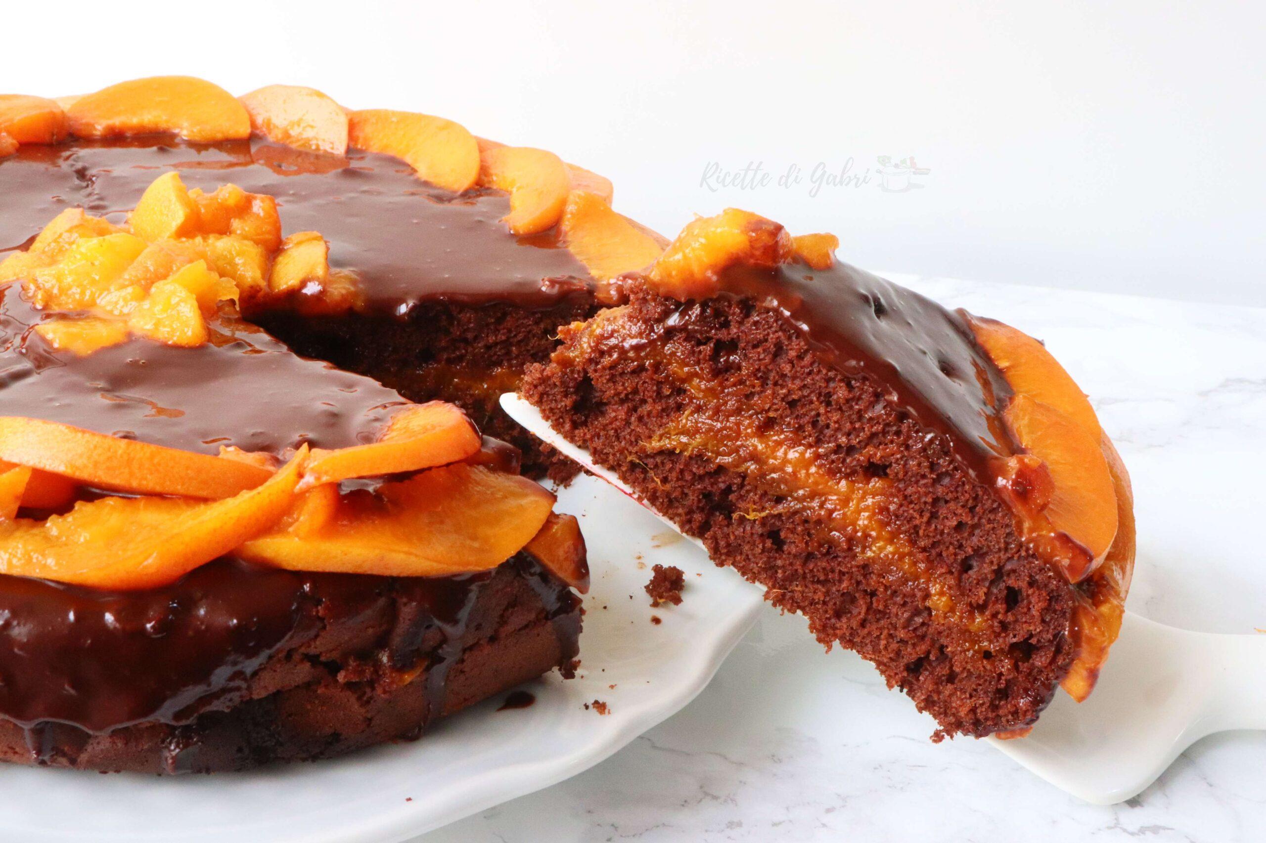 torta cioccolato e albicocche cotta in padella ricetta facile gabri dolci senza forno