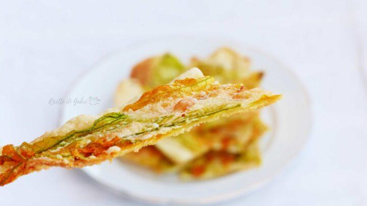 pizza con fiori di zucca croccante senza lievito ricetta facile veloce romana scrocchiarella gabri
