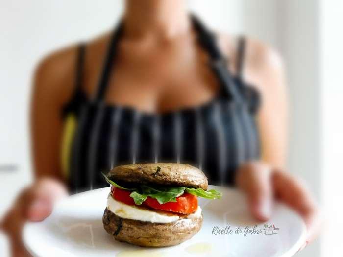 panino con funghi champignon panino vegano senza pane ricetta veloce di gabri