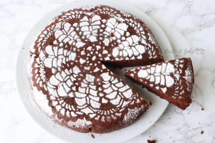torta in padella al cioccolato senza burro con solo un uovo ricetta facile e veloce di gabri sofficissima