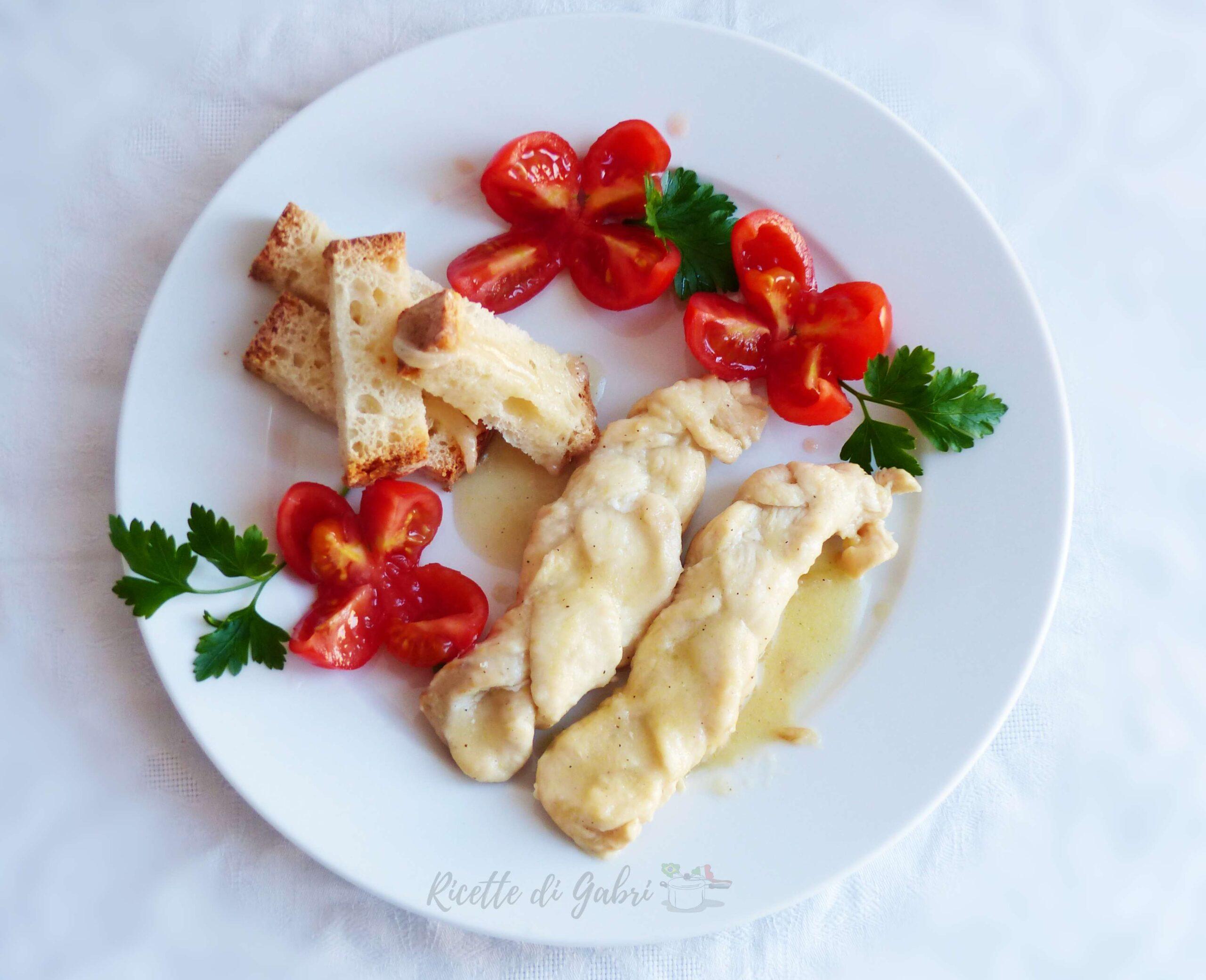 treccia di petto di pollo al limone ricetta facile veloce gabri