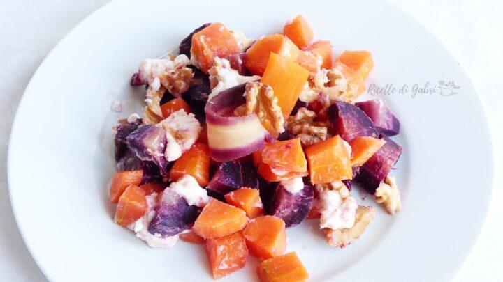 insalata di carote viola alle noci ricetta carote sfiziosa veloce gabri