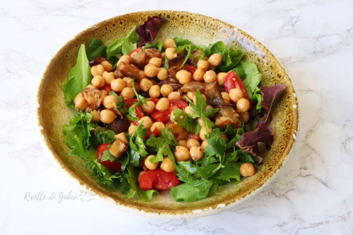 insalata di ceci e melanzane ricetta facile e veloce di gabri insalatona sfiziosa
