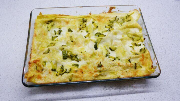 lasagne bianche di zucchine ricetta semplice facile e veloce di gabri