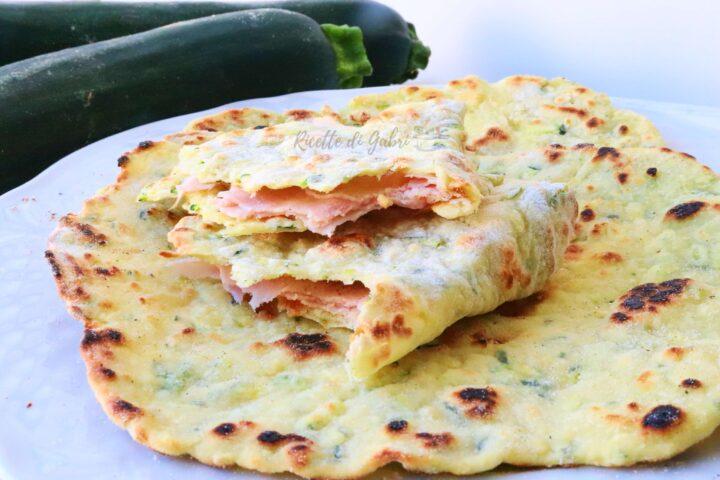ricetta zucchine piadina veloce senza lievito impasto con zucchine semplice ricetta furba di gabri