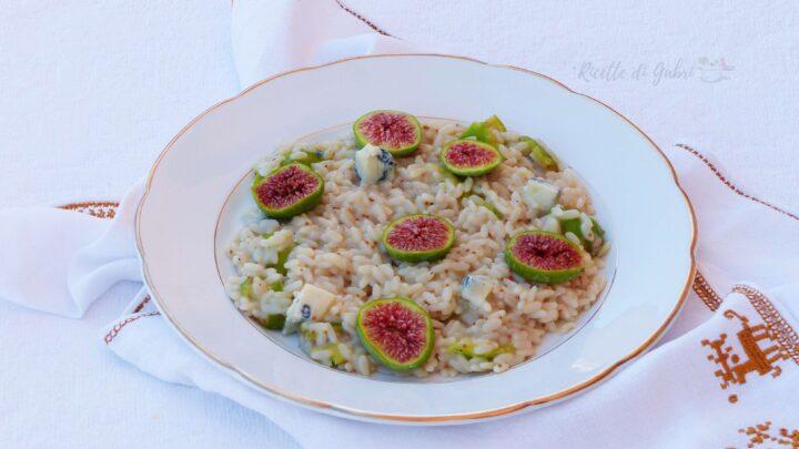 ricetta risotto fichi e gorgonzola di gabri