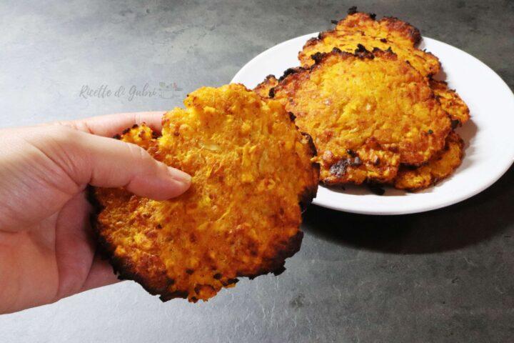 frittelle di zucca salate al forno ricetta facile di gabri salvacena