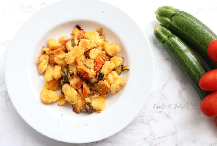 gnocchi di patate e zucchine al forno ricetta facile gabri
